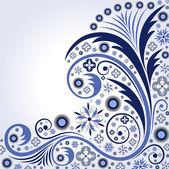 Ornamental winter background — Stock Vector