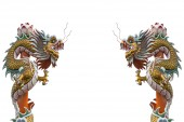 Statue dragon chinese style — Stock Photo