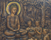 Buddha's biography — Stock Photo