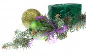 Christmas green gift — Foto de Stock