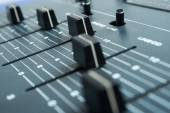 Recording desk studio — Stockfoto
