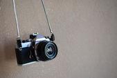 Old SLR Black Camera — Stock Photo