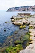 Old Ohrid village on the sea — Stock Photo