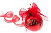 Bola vermelha de Natal — Fotografia Stock