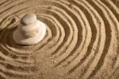 Stones on sand — Stock Photo