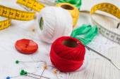 Sewing material — Stock Photo
