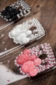 Plastic mobile phone cases — Stockfoto