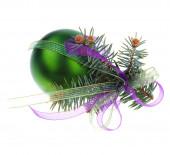 Green Christmas Decoration — Stock Photo
