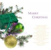 Christmas green gift — Stock Photo