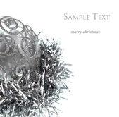 Silver Christmas decorations — Stok fotoğraf