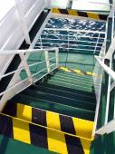 Metal stairwell on ship — Stock Photo
