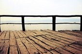 Element of  wooden pier — Stock Photo