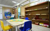 Montessori Kindergarten Preschool Classroom — Stock Photo