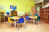 Sala de aula pré-escolar de jardim de infância de Montessori — Fotografia Stock