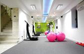 Gym centre interior with  Equipment — Fotografia Stock