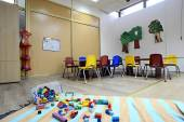 Детский сад montessori дошкольный класс — Стоковое фото