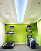 Gym centre interior with  Equipment — Stock Photo