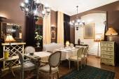 Klassiek restaurant interieur — Stockfoto