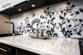 Interior da bela cozinha — Fotografia Stock