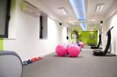 Gym centre interior with  Equipment — Stock Photo