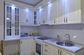 White kitchen interior — Stock Photo