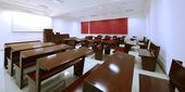 Empty classroom in college — Stock Photo