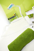 Massage table in SPA center — Foto Stock
