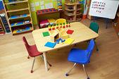 Montessori Kindergarten Preschool Classroom — Foto de Stock