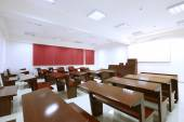 Empty classroom in college — Stock Photo