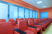 Red conference room — Stock Photo