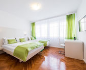 Hotel apartment with  beds — Stockfoto
