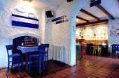 Greek tavern concept — Stock Photo
