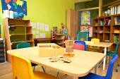 Montessori Kindergarten Preschool Classroom — Stockfoto