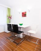 Dining room in studio — Stockfoto