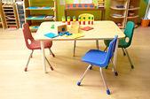 Montessori Kindergarten Preschool Classroom — Stock Photo