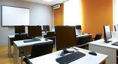 Computer classroom interior — Stock Photo