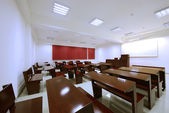 Empty classroom in college — Photo