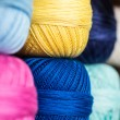 Skeins of colorful yarn — Stock Photo #63638475