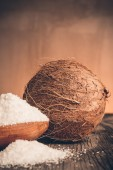 Grounded coconut flakes — Stock Photo