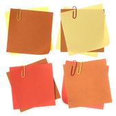 Coleção de notas de papel colorido — Fotografia Stock