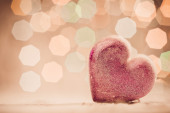 Heart  on abstract background — Stock Photo