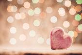Hjärtat på abstrakt bakgrund — Stockfoto