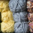 Skeins of colorful yarn — Stock Photo #63640237