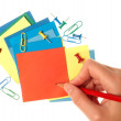 Paper notes in different colors — Stock Photo #63640945