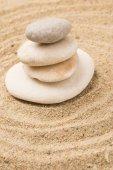 Zen garden stones — Stock Photo
