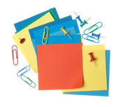 Collection of colorful paper notes — Stock Photo