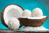 Homemade coconut sweets — Stock Photo