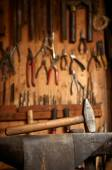 Set tools in workshop — Foto de Stock