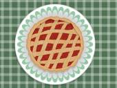 Red pie — Stock Vector