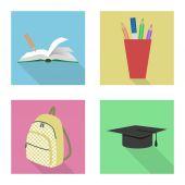 Skolan ikoner — Stockvektor